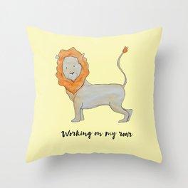 Working on my Roar Pillow Throw Pillow