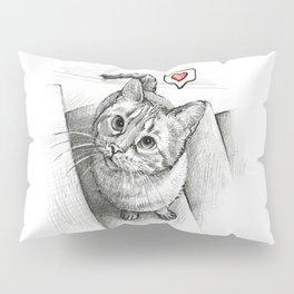 Cute Kitty Cat - Love Me Pillow Sham