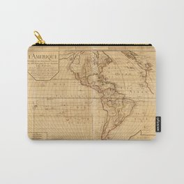 Map of North and South America (1752) Carry-All Pouch