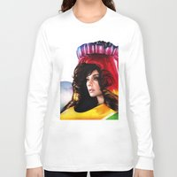 bjork Long Sleeve T-shirts featuring BJORK - VOLTA by Denda Reloaded