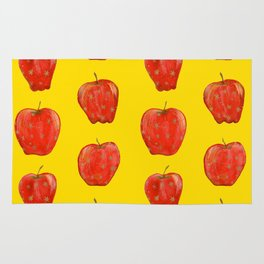 Red Remarkable Apple Pattern Rug