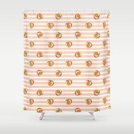 Peaches Shower Curtains