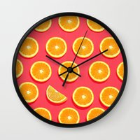 fruit Wall Clocks featuring  FRUIT by mark ashkenazi
