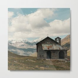 the church in the mountains Metal Print