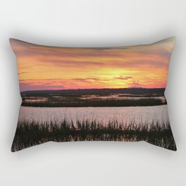 Sky Over The Marsh Rectangular Pillow