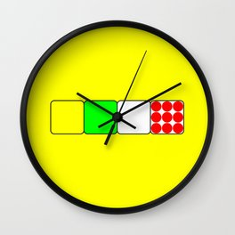The Bicycle Race Jerseys 2 Yellow Wall Clock