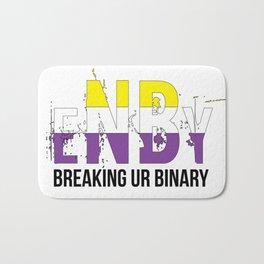 ENBY breaking ur binary Bath Mat