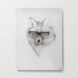 Fox Specs Metal Print