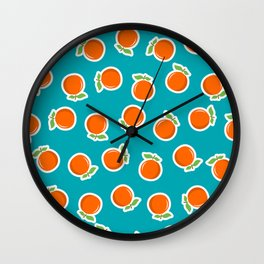 Zesty Orange Wall Clock