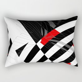 black and white meets red Version 8 Rectangular Pillow