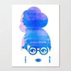 Curious Blue Canvas Print