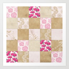Spring Time - Patchwork Art Print