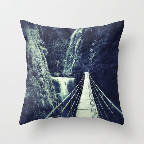 The Bridge. Retro. Adventure  Throw Pillow