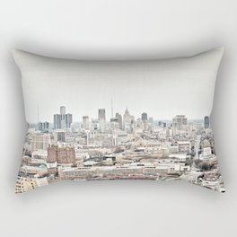 Downtown Detroit Skyline View from New Center Rectangular Pillow