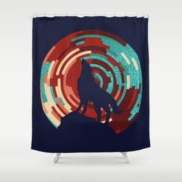 Howling wolf  DJ wall art print Shower Curtain