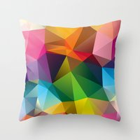 Throw Pillows featuring Geometric view by Three of the Possessed