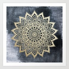 BOHO NIGHTS MANDALA Art Print