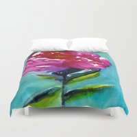 peony Duvet Covers featuring Peony by Mai Autumn