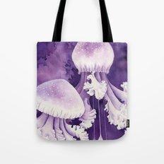 Purple Jellyfish Tote Bag