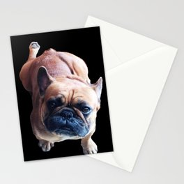 Cute French Bulldog Kneel for a Cookie! Stationery Cards
