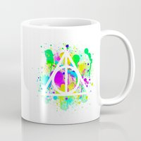deathly hallows Mugs featuring The Deathly Hallows by Christina