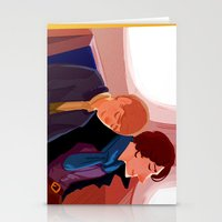 johnlock Stationery Cards featuring Johnlock on the tube after a case by Sama Ma
