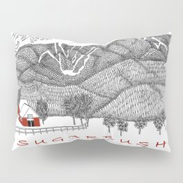 Sugarbush Vermont Serious Fun for Skiers- Zentangle Illustration Pillow Sham