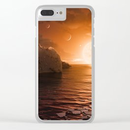 View from Exoplanet Trappist-1f Clear iPhone Case