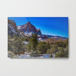 The_Watchman - Winter in Zion_National_Park, UT Metal Print