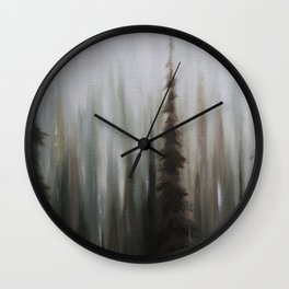 Pacific Northwest Forest oil painting by Jess Purser Wall Clock
