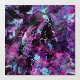 Dark Necessities - Abstract, purple and blue artwork Canvas Print