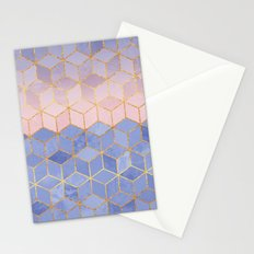 Rose Quartz & Serenity Cubes Stationery Cards