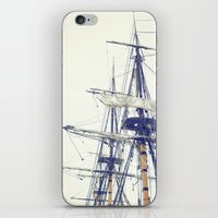pirate ship iPhone & iPod Skins featuring Pirate Ship  by Bree Madden