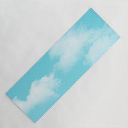 Aqua Blue Clouds Yoga Mat