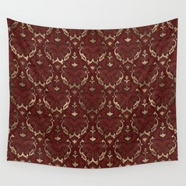 Persian Oriental Pattern - Red Leather and gold Wall Tapestry