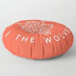 Beware of the Wolves (white) Floor Pillow