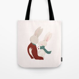 Couple of rabbits in love Tote Bag