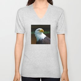 American Bald Eagle Head Unisex V-Neck