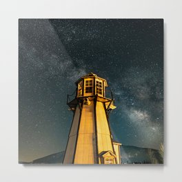Mountain Light House Two Metal Print