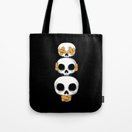Cute Skulls No Evil II Tote Bag