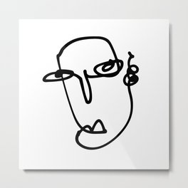 Faces Collection - Laura Metal Print