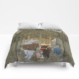 a little woodland adventure Comforters