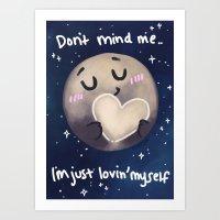 enerjax Art Prints featuring Pluto - I love myself by enerjax