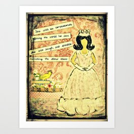 She will be compassionate Art Print