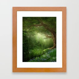 Summer Forest River Framed Art Print