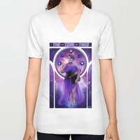 mucha V-neck T-shirts featuring Mucha Taco by thetinytaco