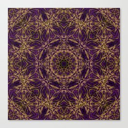 Purple Mandala Hippie Pattern Canvas Print