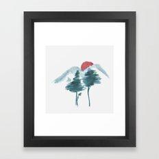 Japanese Alpine Sunset Framed Art Print