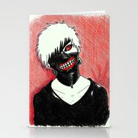 tokyo ghoul Stationery Cards featuring Kaneki - Tokyo Ghoul by Kelly Katastrophe
