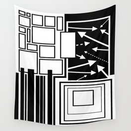 Arrows Amid Squares Wall Tapestry